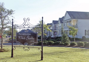 The White Gables community sign in Summerville